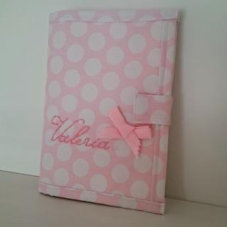 portadocumentos-rosa-topos-regalos-con-tela